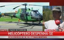 Helicóptero de combate a incêndios despenha-se