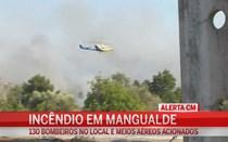Grande incêndio ameaça casas em Mangualde