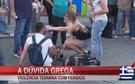 Equipa da CMTV testemunha manifestação violenta em Atenas