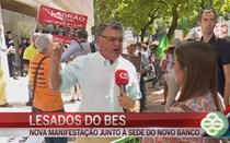 """Lesados do BES protestam para reaver """"as poupanças de uma vida"""""""