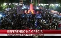 Gregos festejam a vitória do 'não'