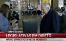 Mário Soares vota na Reitoria da Universidade de Lisboa