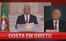 António Costa discursa no Palácio da Ajuda