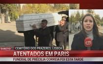 Funeral em Lisboa de lusodescendente morta nos atentados de Paris