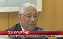 António Costa dá mais de mil milhões de euros às famílias