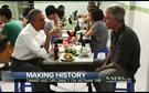 Obama e Bourdain jantam numa tasca por 5 euros