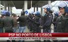 PSP controla retirada de contentores do porto de Lisboa