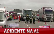 Crianças feridas em acidente com autocarros