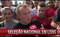 Portugueses esperam seleção em Lens