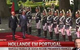 Hollande recebido por Marcelo