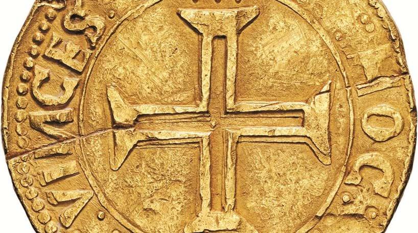 Moeda de ouro de D. Manuel I em leilão