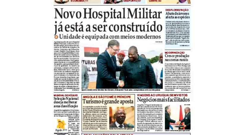 'Jornal de Angola' quer fim de investimento angolano em Portugal