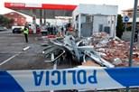 Destroem gasolineira ao explodir multibanco
