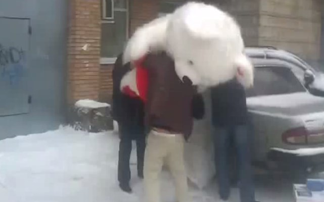 Mundo Louco: Que figura de urso gigante