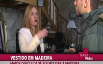 Isabel Figueira vai usar vestido de madeira