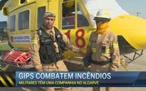 GIPS combatem incêndios