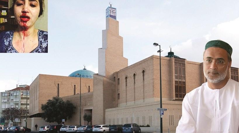 Líder islâmico agride mulher à cotovelada