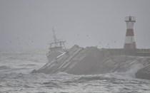 Veja as imagens do naufrágio na Figueira da Foz
