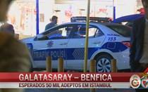Polícia reforça segurança em Istambul antes de jogo com Benfica