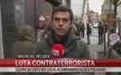 Equipa da CMTV no local das buscas da polícia belga