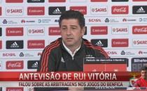 Rui Vitória critica erros de arbitragem