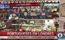 Portugueses em Londres vivem festa do futebol