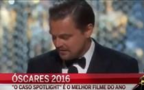 DiCaprio ganha Óscar de melhor ator