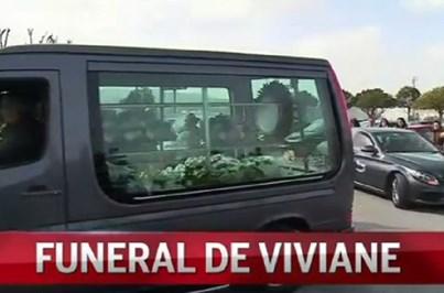 Imagens marcantes do funeral de Viviane