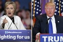 Hillary e Trump empatados em sondagem em véspera de debate