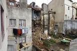 Prédio de Lisboa destruído em derrocada