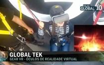 Óculos de Realidade Virtual simulam salto para vulcão
