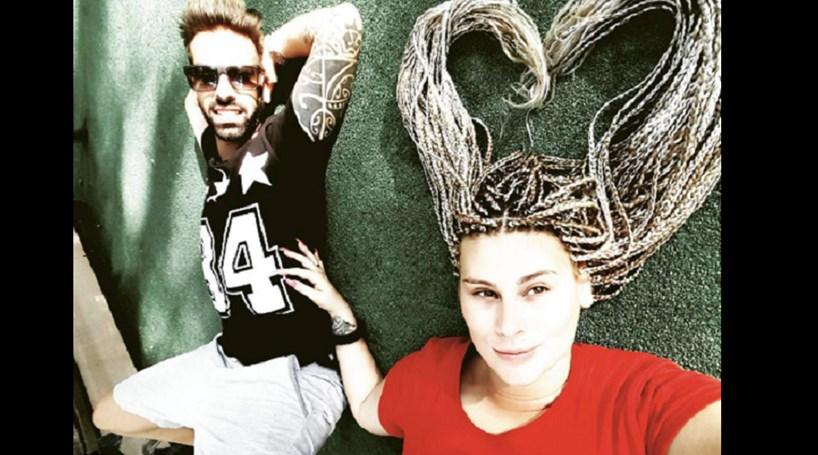 Bernardina celebra três meses de namoro