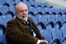 Nápoles doa parte da receita do jogo com o AC Milan às vítimas do sismo