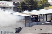 Incêndio em fábrica em Odivelas