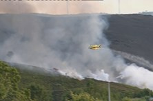 Mais de 170 operacionais combatem chamas em Castro Daire