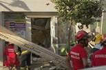 Derrocada em prédio faz seis feridos