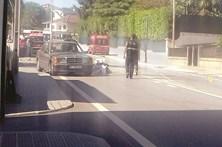 Atropelado por carro após colisão violenta