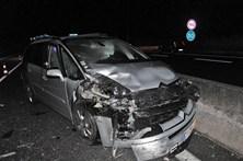 Dorme na autoestrada e provoca seis feridos