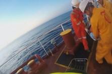 Tripulante de navio resgatado ao largo dos Açores