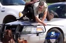 Polícia salva homem perseguido por Pitbull