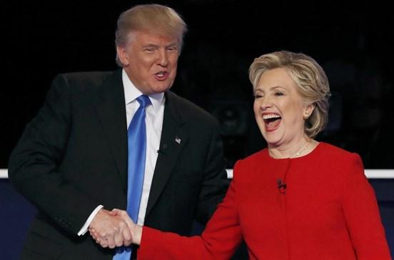 Sondagem dá vitória a Clinton no debate com Trump