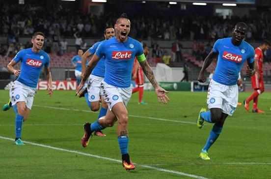 Nápoles 4 - 1 Benfica: Acompanhe ao minuto