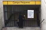 Estação do metro do Campo Pequeno reaberta