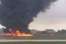 Cinco mortos em queda de avião em Malta