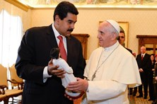 Nicolás Maduro fez visita-surpresa ao Papa