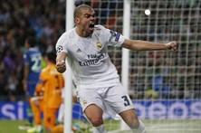 Pepe falha treino do Real Madrid devido a lesão