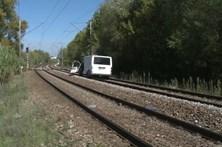 Carrinha abalroada por comboio