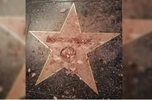Estrela de Trump no Passeio da Fama destruída à marretada