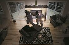 Ladrões de casas caçados na fuga