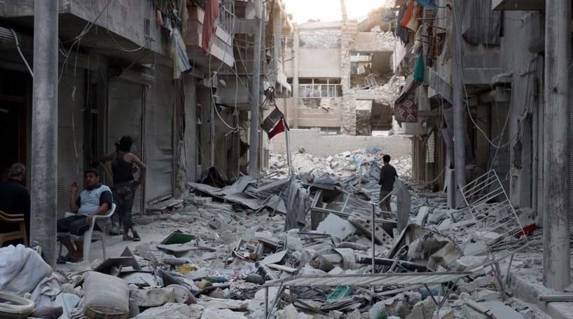 Doze civis mortos em bombardeamento em Alepo